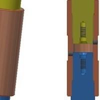 Резьбовое соединение составных валов в мешалках VISCO JET